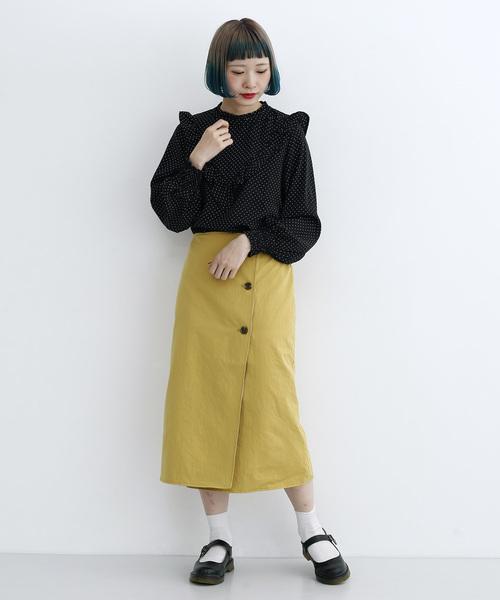 [merlot] リバーシブルラップスカート735-5527