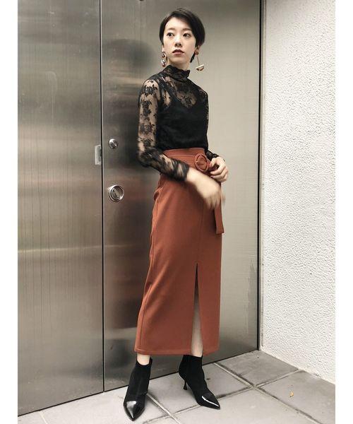 [MURUA] ベルテッドペンシルスカート
