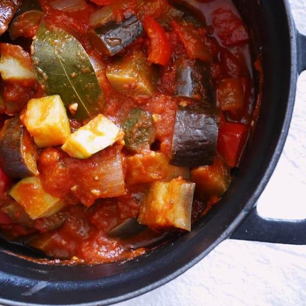 ④おかずレシピ:夏野菜ラタトゥイユ