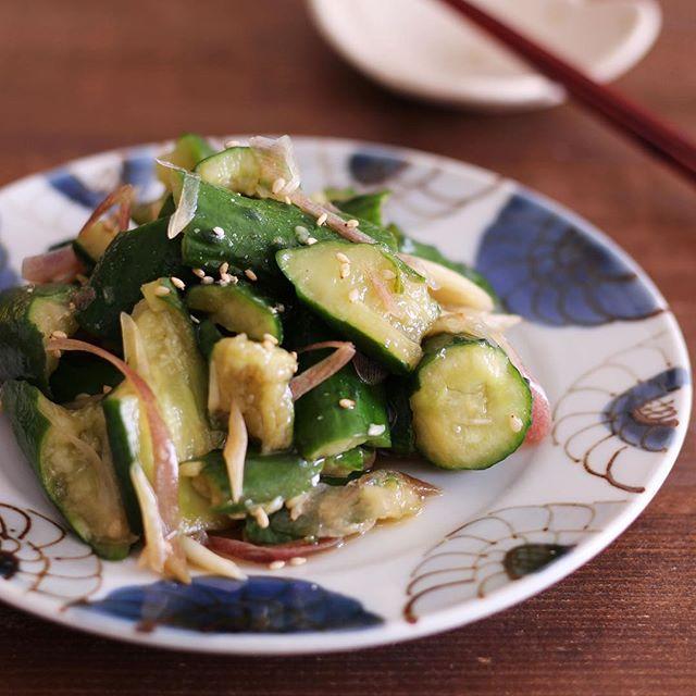 たたききゅうりと香味野菜のポン酢漬け