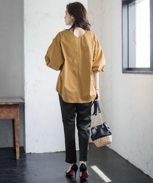 [GIRL] 抜き襟袖コンシャスブラウス