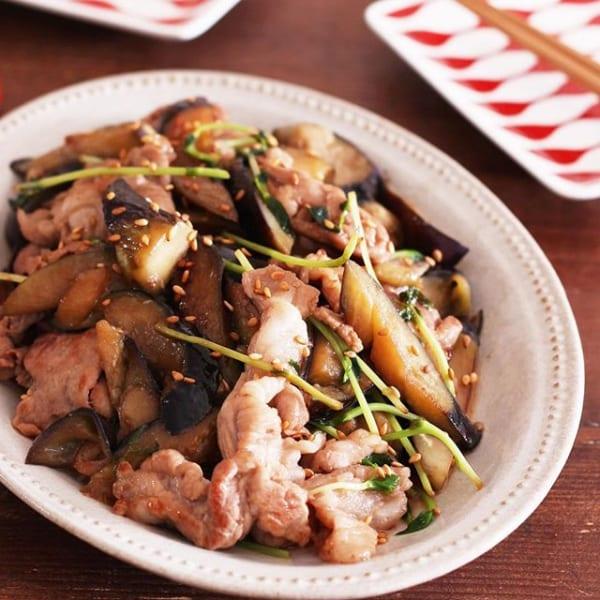 ご飯がすすむ!豚こまとなすの甘酢炒め弁当