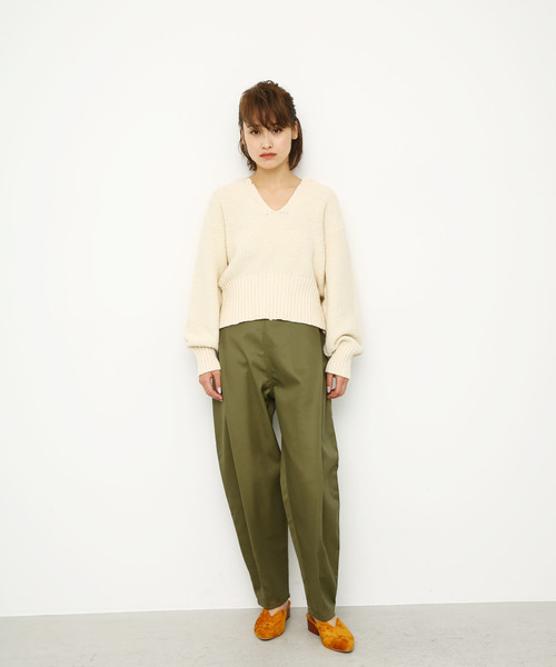 [BLACK BY MOUSSY] front tuck chino pt