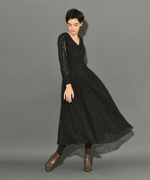 [My shawty] lace line design dress