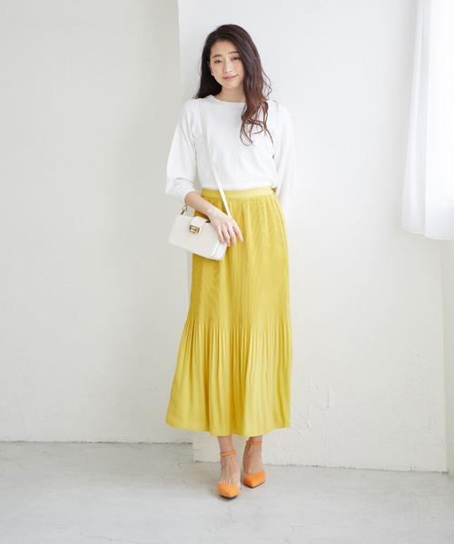 [ROPE'] 【WEB限定】アコーディオンミニプリーツマキシスカート