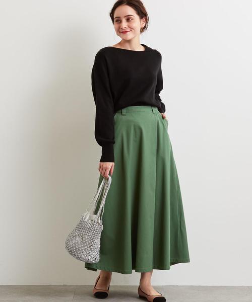 [green label relaxing] SC T/C チノ フレア スカート