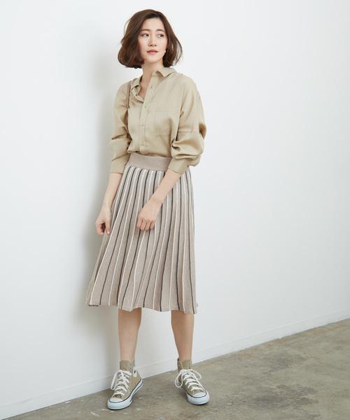 [ROPE' PICNIC] タック編みスカート