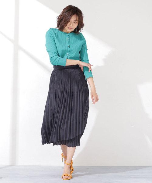 [nano・universe] 2段プリーツスカート