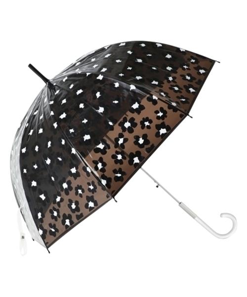 [Francfranc] 【雨傘】プリュイ フラワー ビニール傘 58㎝ ブラウン