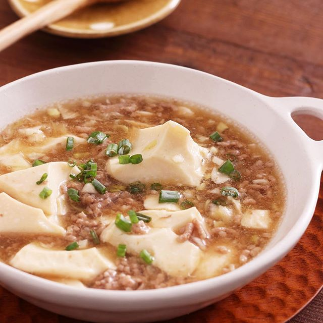 お腹も満たされるひき肉と豆腐の和風あんかけ