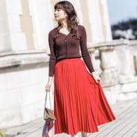 この秋は色を楽しむ♡『カラースカート』で叶えるアラサー女子コーデ