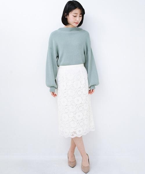 [haco!] 【洗濯機洗いOK】いつものトップスを華やかに見せてくれるレーススカート