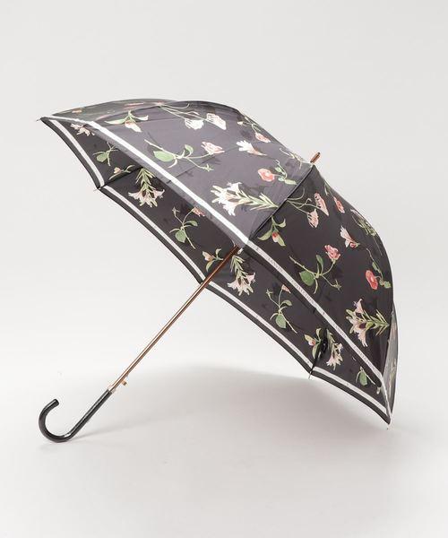 [MOONBAT] 傘 【ロゴリボン ボタニカルフラワー】