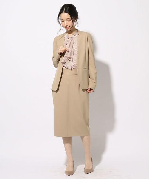 [SHIPS for women] 【セットアップ対応可能】ノーラペルジャケット