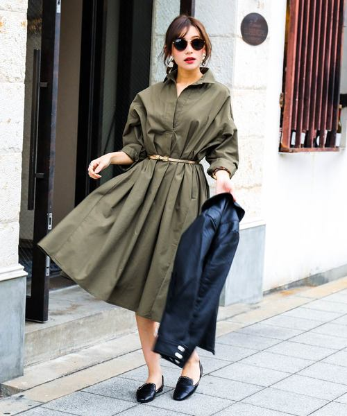 [Fashion Letter] テントシャツワンピース