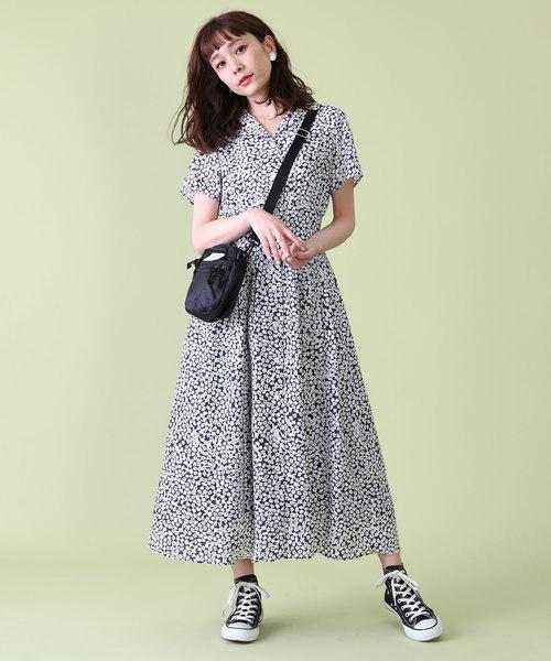 [FREAK'S STORE] 小花柄プリントワンピース(マキシワンピース)