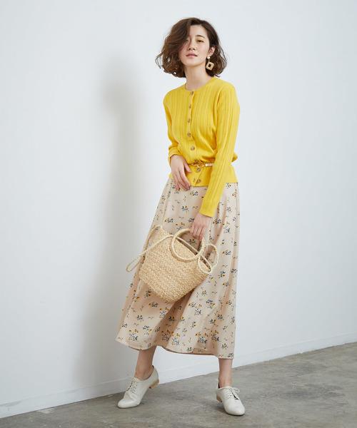 [ROPE' PICNIC] フラワープリントロングスカート