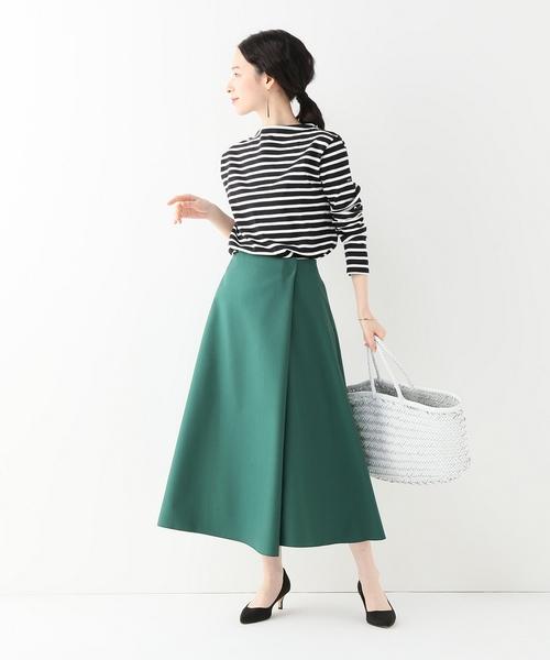 [IENA] T/W セミフレアスカート◆