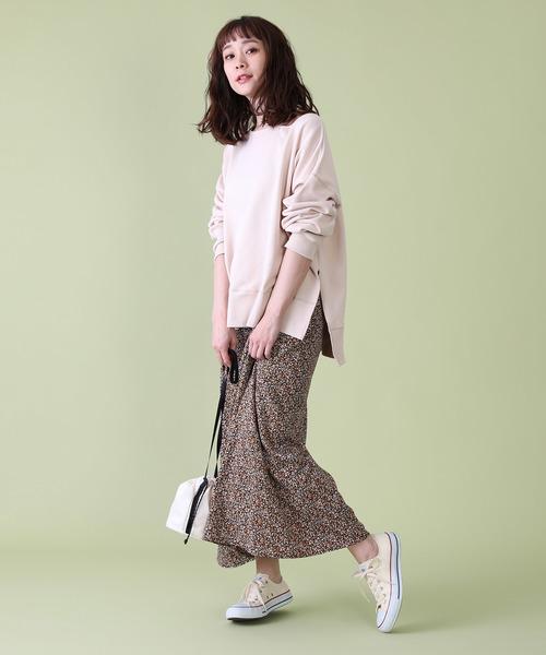 [FREAK'S STORE] 【WEB限定】小花柄プリントマキシスカート