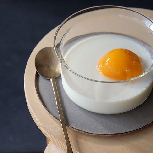 ㉑簡単デザート:杏仁豆腐のお月見デザート
