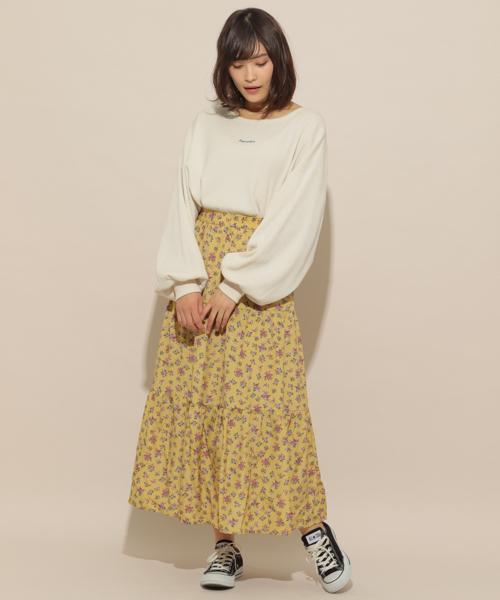 [apres jour] 小花ティアードスカート【ZOZOTOWN限定アイテム】