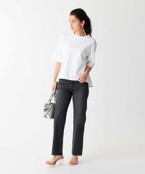 [EMMEL REFINES] SMF 裾スリット クルーネックTシャツ