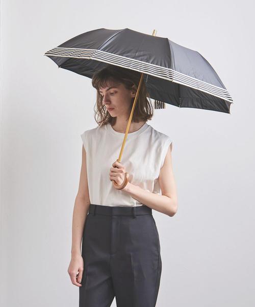 [UNITED ARROWS] <Athena New York(アシーナ ニューヨーク)>SOHO ストライプ 晴雨兼用 折りたたみ傘