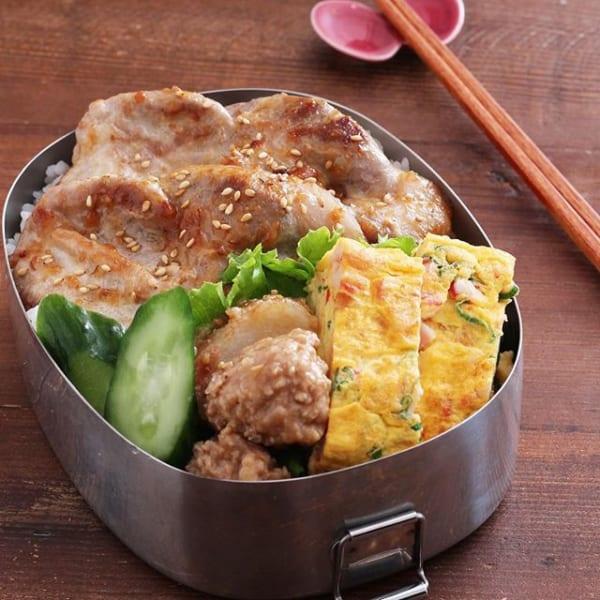 豚肉の味噌マヨ焼きで安定ののっけ弁当