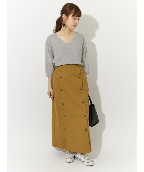 [Green Parks] ・RAYCASSIN ダブルボタンロングスカート