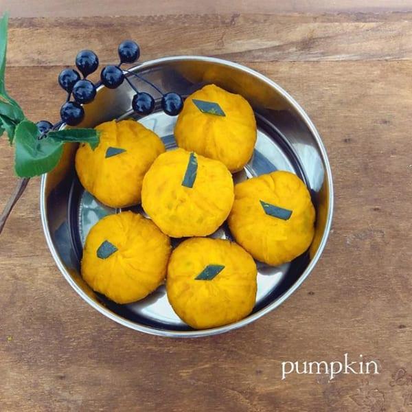 ⑰お弁当おかず:かぼちゃ茶巾