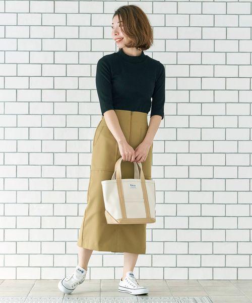 [le.coeur blanc] フロントジップハイウエストタイトスカート