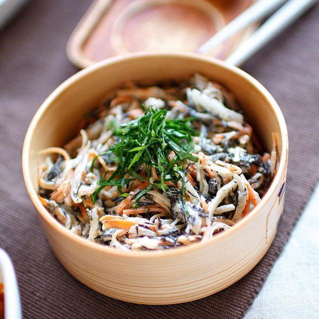 ⑥簡単副菜:さっぱりひじきのゴマサラダ