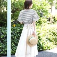 きれいなくびれを作る♡レースアップスカートの美シルエットコーデ15選