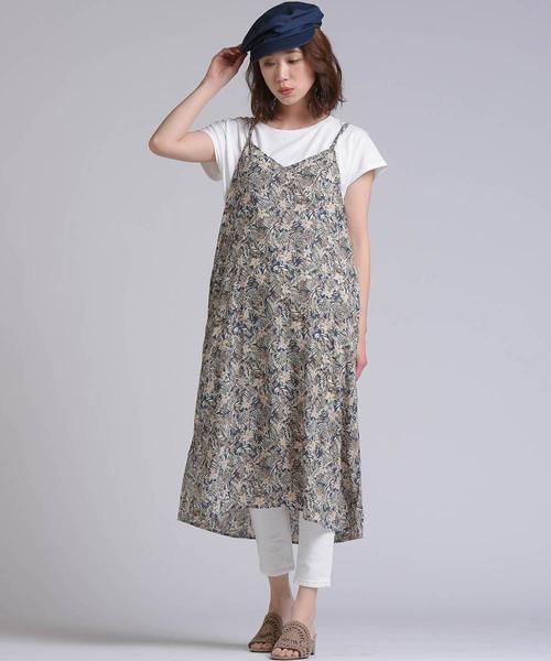 [LIPSTAR] 【セット商品】シフォンキャミワンピース×Tシャツセット