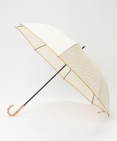 [salle de bal] 晴雨兼用 T/C透かし柄アニマルショートワイド 折りたたみ傘 27377