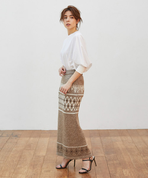 7[GALLARDAGALANTE] ジャガードニットスカート