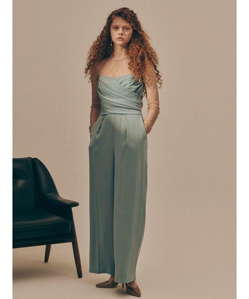 [LAGUNAMOON] LADYクロスベアパンツドレス