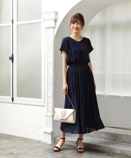 [coen] 【WEB限定 手洗いできる】ウォッシャブルスラブランダムプリーツスカート