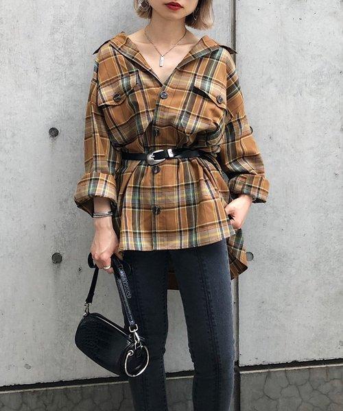 [PAGEBOY] ネルチェックBIGシャツ