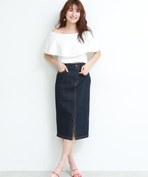 [PROPORTION BODY DRESSING] デニムタイトスカート