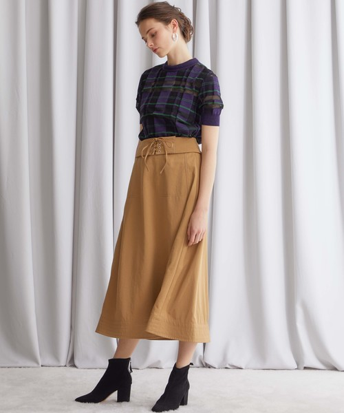 [STUDIOUS WOMENS] 【STUDIOUS】ウエストレースアップスカート
