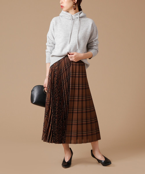 8[martinique] martinique/チェックプリーツスカート