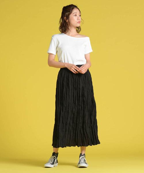 [LIPSTAR] ランダムプリーツマキシスカート