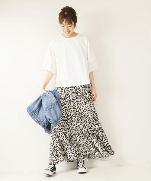 +レオパード柄スカート