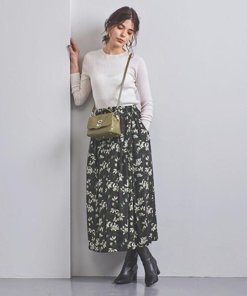 [UNITED ARROWS] <SACRA(サクラ)>フラワープリント ギャザースカート