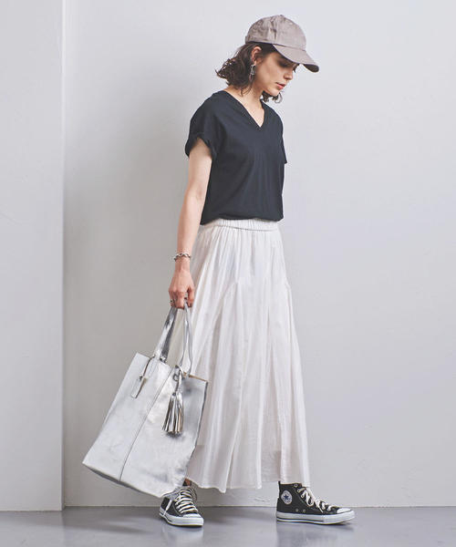 [UNITED ARROWS] <STYLE for LIVING> マチ ロングスカート 90
