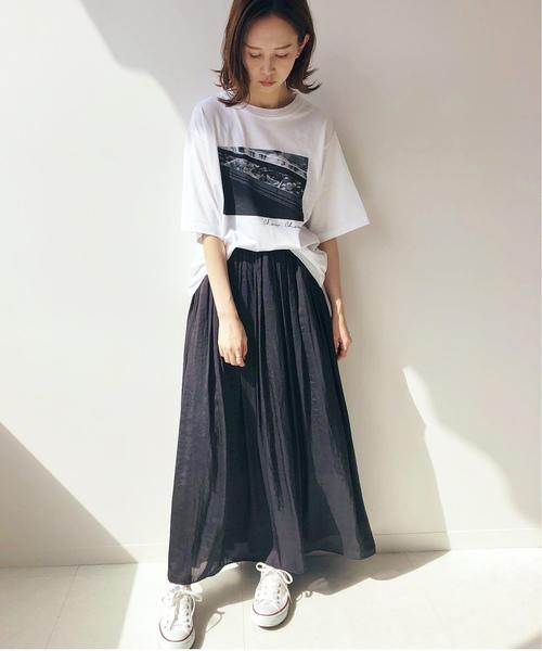 [IENA] ヴィンテージ サテンマキシスカート