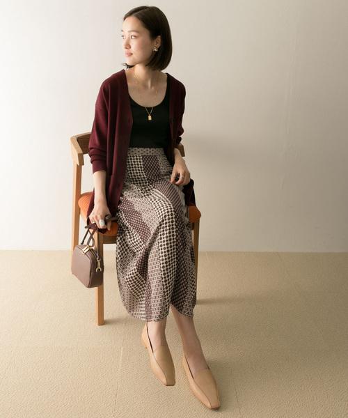 [URBAN RESEARCH] ヴィンテージ風パネルプリントスカート