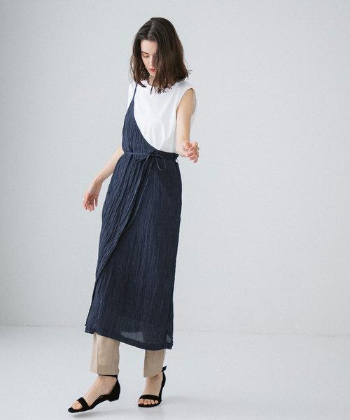 [PUBLIC TOKYO] ワンショルダーサテンスカート