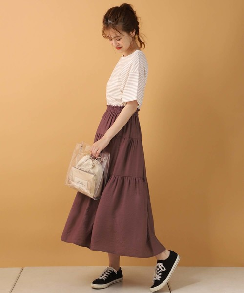 [one after another NICE CLAUP] 【ZOZO限定】ティアードロングスカート